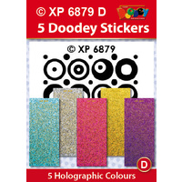 Retro Dots Soft Colours Holographic Assorted Pack