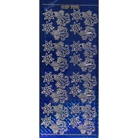 Christmas Falling Star Stickers BLUE GOLD
