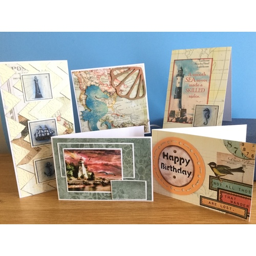Nautical Card Making Kit - Create Five Cards