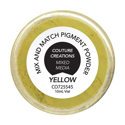 Couture Creations Pigment Powder Yellow 10ml
