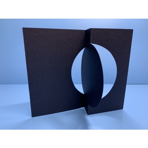 Circle Flip Cards Black 300gsm x 5 with Envelopes