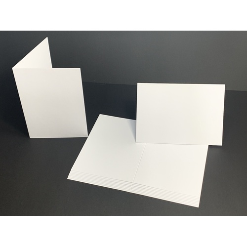White Card Single Fold Size B 200gsm (10 Pack) [Supply Envelopes: Yes]
