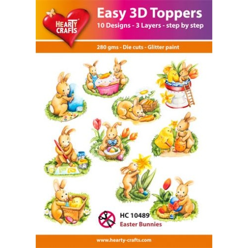 Hearty Crafts Easter Bunnies Die Cut Paper Tole