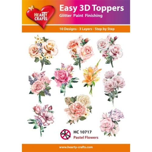 Hearty Crafts Pastel Flowers Die Cut Paper Tole