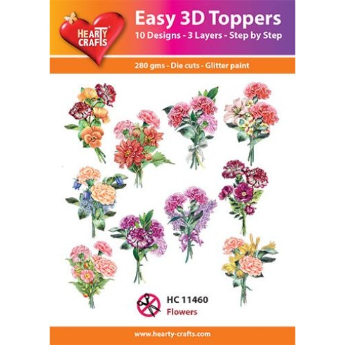 Hearty Crafts Flowers Die Cut Paper Tole