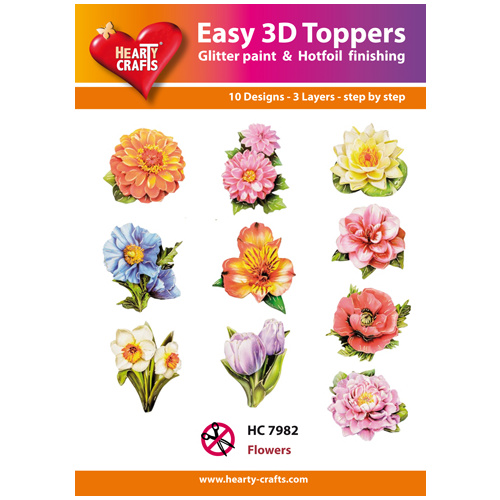 Hearty Crafts Flowers Assorted Die Cut Paper Tole