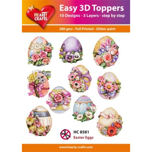 Hearty Crafts Easter Eggs Die Cut Paper Tole