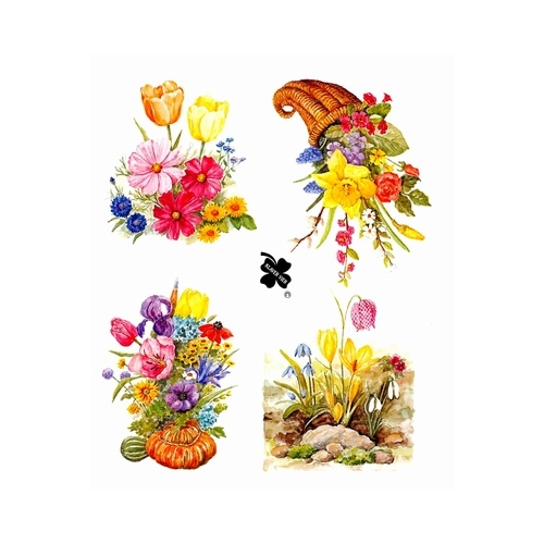 Flowers Decoupage & Card Toppers