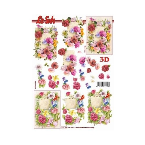 Roses & Notepaper Paper Tole Sheet