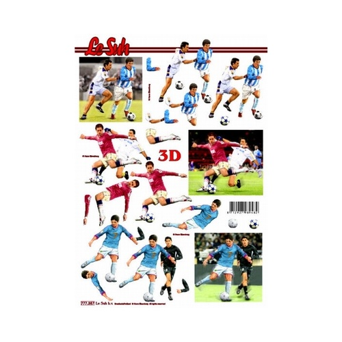 Soccer Red & Blue Paper Tole Sheet