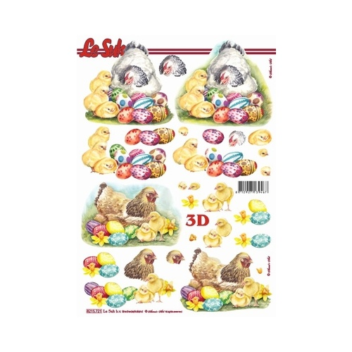 Easter Chickens. Chicks & Eggs Paper Tole
